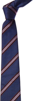 Canali Blue & Purple Stripe Silk Tie