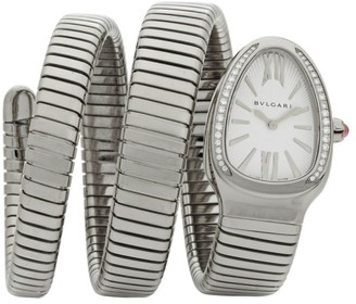 Bvlgari Serpenti Tubogas Stainless Steel & Diamond Double Twist Watch