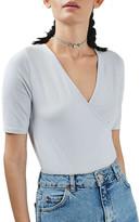 Topshop Surplice Jersey Bodysuit (Petite)