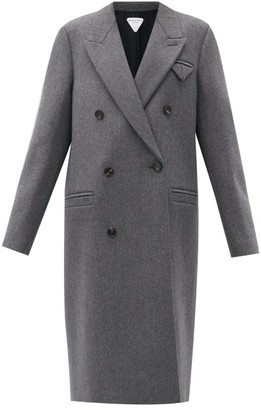 Bottega Veneta Longline Double-breasted Wool Coat - Grey