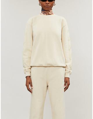 Off-White Diagonal-striped cotton-jersey sweatshirt