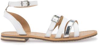 Geox Flat Leather Sandals