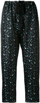 Hache embroidered floral trousers