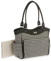 Carter's Drop Front Houndstooth Tote Diaper Bag, Black/White by