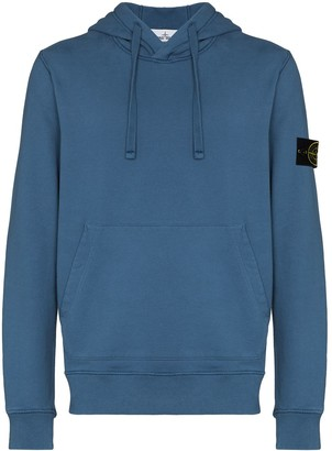 Stone Island Logo Patch-Detail Cotton Hoodie