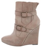 Joie Leather Hi Wedge Booties w/ Tags