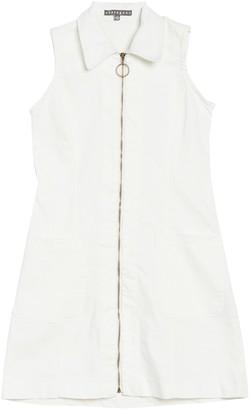 Sharagano Sleeveless Denim Zip Front Dress (Petite)