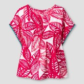 Cat & Jack Toddler Girls' Palm Print Blouse - Cat & Jack Fuchsia
