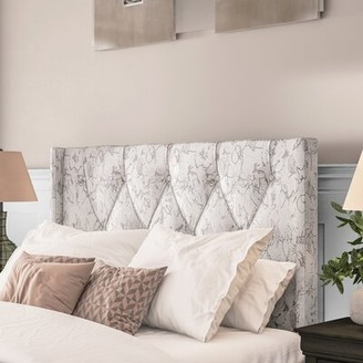 Darby Home Co Basco Button Tufted Upholstered Panel Headboard Size: King