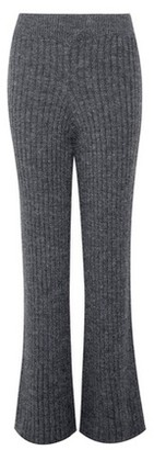 Dorothy Perkins Womens Charcoal Knitted Wide Leg Trousers