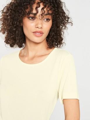 Very The Essential Premium Soft Touch Scoop Neck T-shirt - Cream