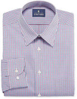 STAFFORD Stafford Stafford Travel Performance Super Shirt Long Sleeve Woven Grid Dress Shirt