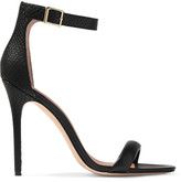 Halston Ester snake-effect and smooth leather sandals
