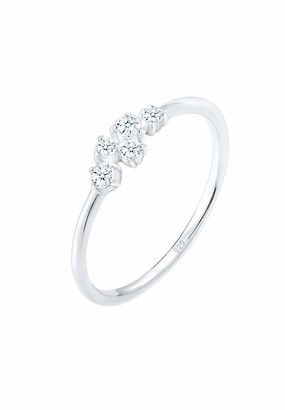 Diamore Women's 925 Sterling Silver Solitaire Engagement Ring Q 0601230318_58
