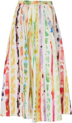 Rosie Assoulin Printed Cotton-Blend Poplin Midi Skirt