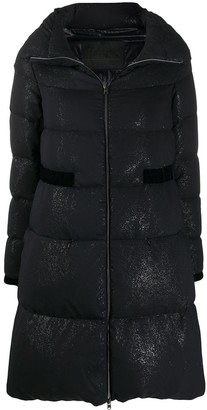 Herno Shimmer-Effect Down-Feather Coat