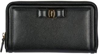 Salvatore Ferragamo Vara Bow Zip-Around Wallet