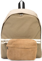 Hender Scheme - zipped backpack - unisex - Nylon/Suede - One Size