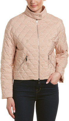 Moncler Cabriole Silk-Lined Short Jacket