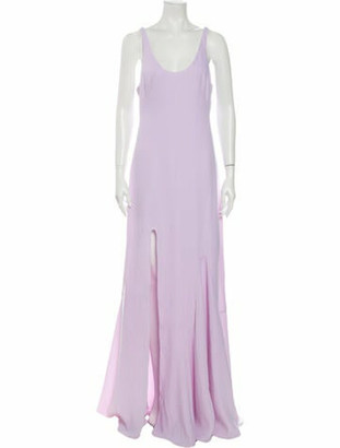 Halston Scoop Neck Long Dress w/ Tags Purple