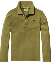 Scotch & Soda Long Sleeved Pique Polo