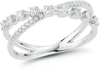 Bea Yuk Mui Dana Rebecca 14ct White Gold And Diamond Ava Crossover Ring