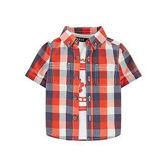 Mothercare Baby MB RP Check Shirt & TEE SS T-Shirt,(Size:104)