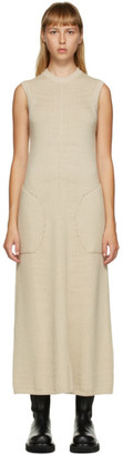 Peter Do Beige Sleeveless Knit Dress
