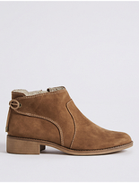 M&S Collection Block Heel Tie Back Ankle Boots