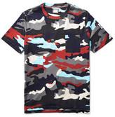 Moncler Gamme Bleu Camouflage-print Cotton-jersey T-shirt