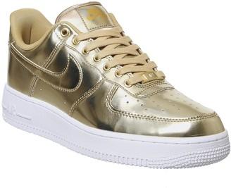 Nike Force 1 07 Trainers Metallic Gold