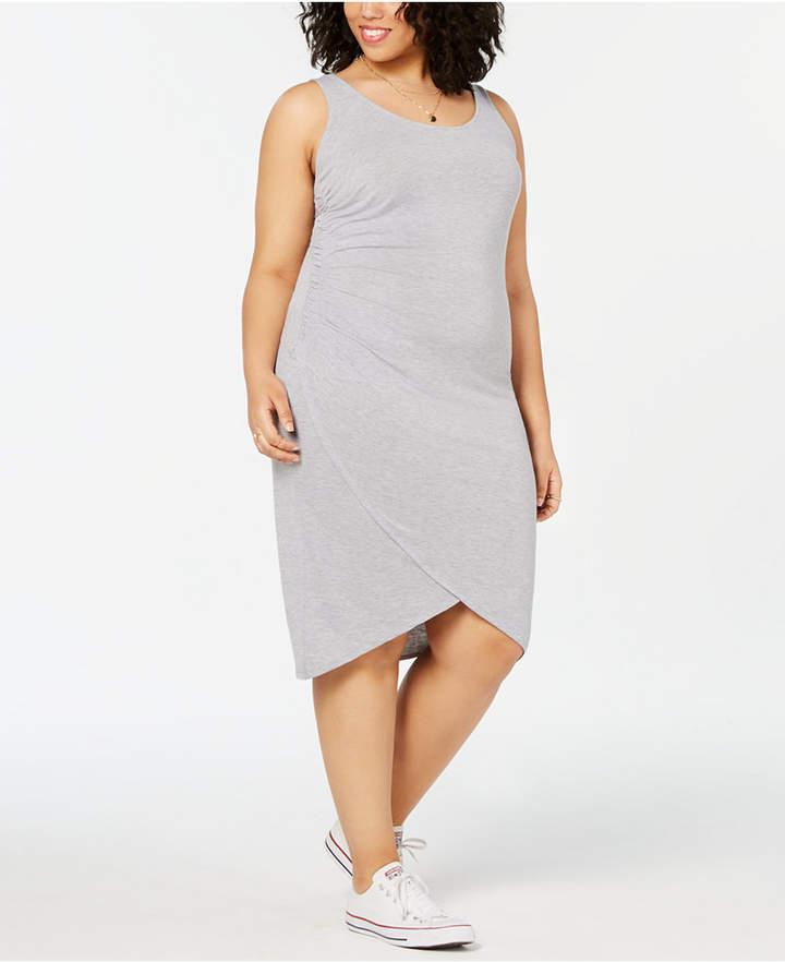 Plus Size Ruched Dress - ShopStyle