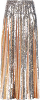 Emilio Pucci Pleated sequin-embellished crepe maxi skirt