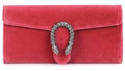 Gucci Dionysus crystal-embellished velvet clutch