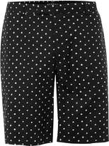 Topman Black And White Spotted Mid Length Smart Shorts