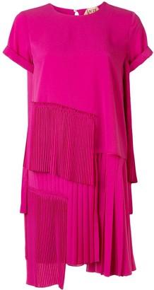 No.21 Pleated Panel Short Dress