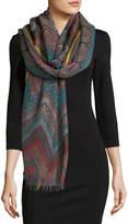 Sabira Design So Fine Chevron Wool Shawl