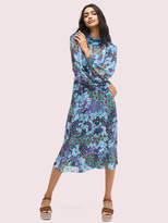 Kate Spade pacific petals chiffon dress
