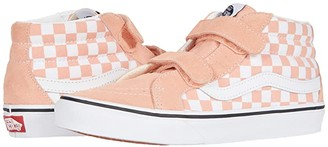Vans Kids SK8-Mid Reissue V (Big Kid) ((Checkerboard) Salmon/True White) Girl's Shoes