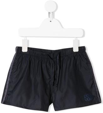 Douuod Kids drawstring logo shorts