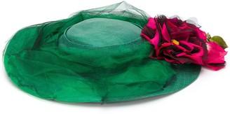 A.N.G.E.L.O. Vintage Cult 1950's Floral Applique Hat