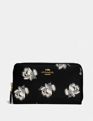 Coach Medium Zip Around Wallet With Floral Print
