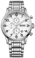 HUGO BOSS Watches Men's Aeroliner Watch (White)