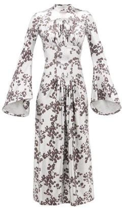 Paco Rabanne Floral-print Lurex Dress - Silver