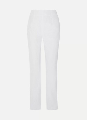 16Arlington Satin-twill Straight-leg Pants - White