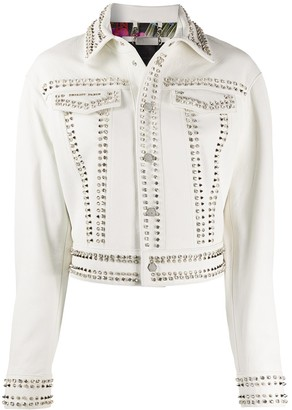 Philipp Plein Skull Stud Leather Jacket