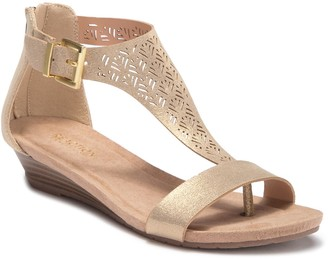 Kenneth Cole Reaction Great City Metallic Wedge Sandal