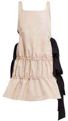 No.21 No. 21 - Bow-embellished Tiered Twill Dress - Womens - Light Pink