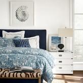 Printed Peacock Bedding, Blue