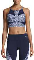 Puma Culture Surf Active Training Crop Top, Blue/White
